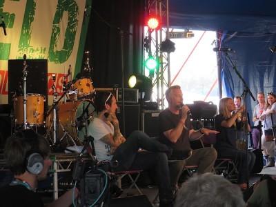 Glastonbury 2015 - Frank Turner & Billy Bragg at Leftfield