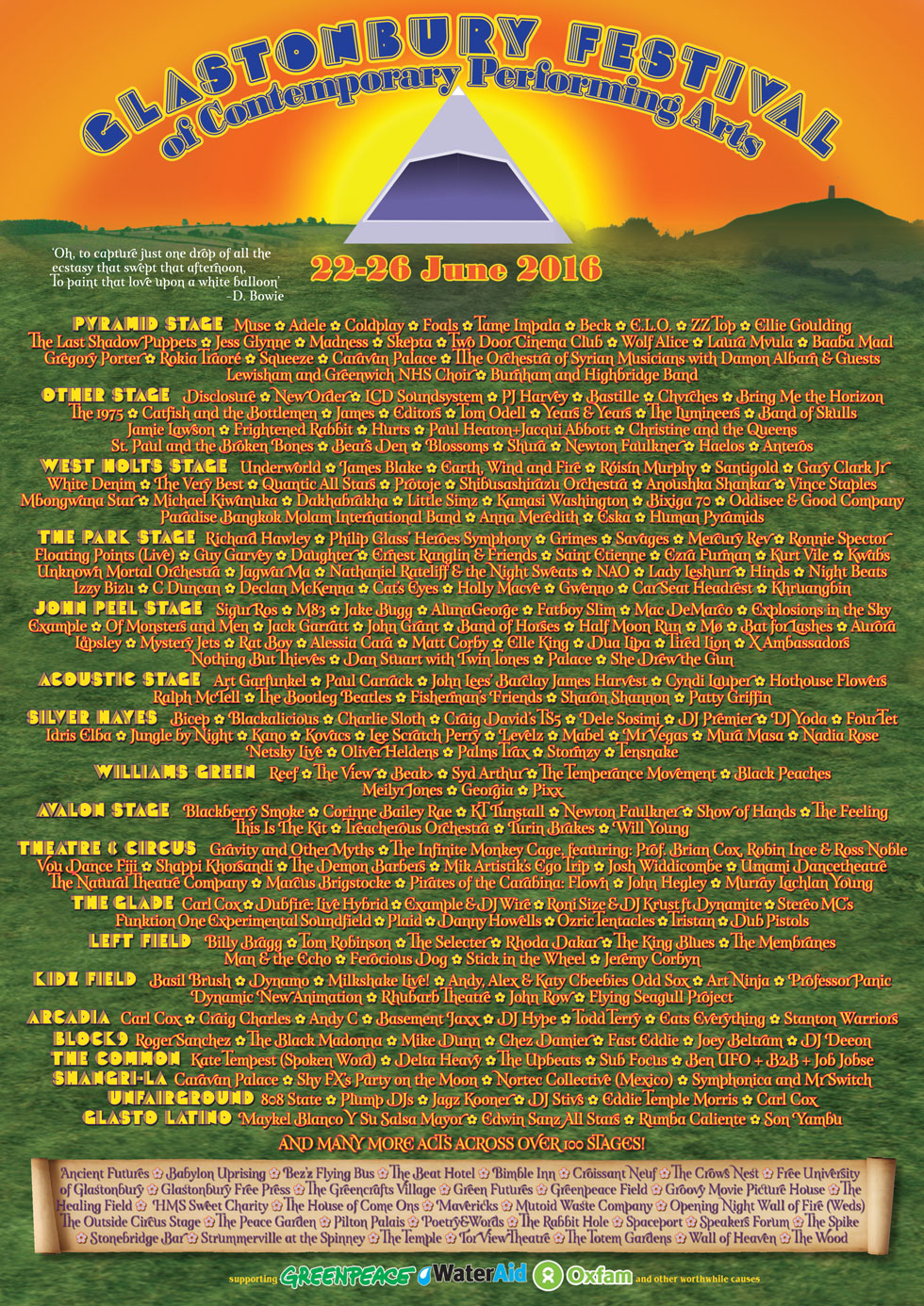 Glastonbury-Festival 2016 - Line-Up-Poster