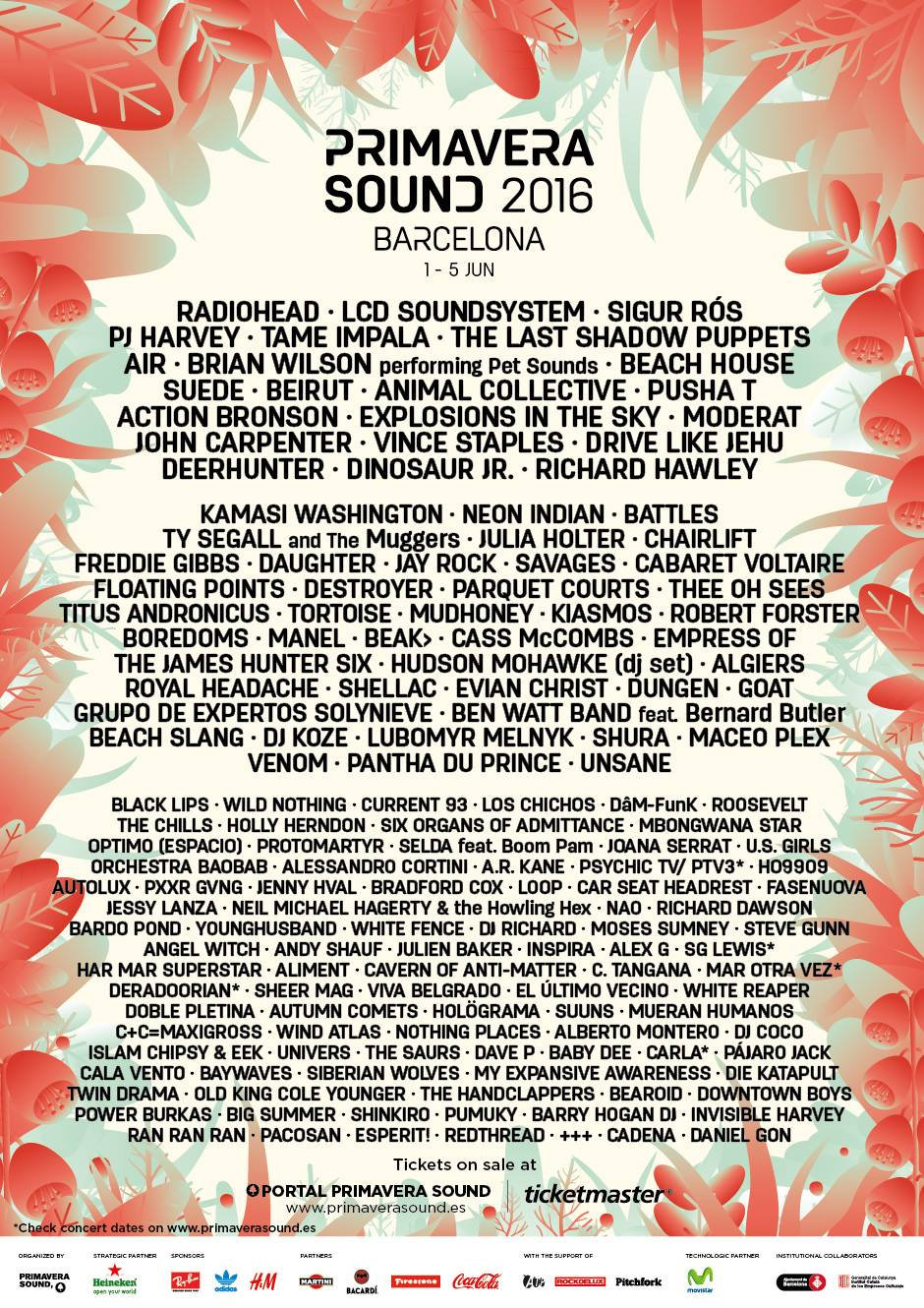 Primavera Sound in Barcelona Lineup