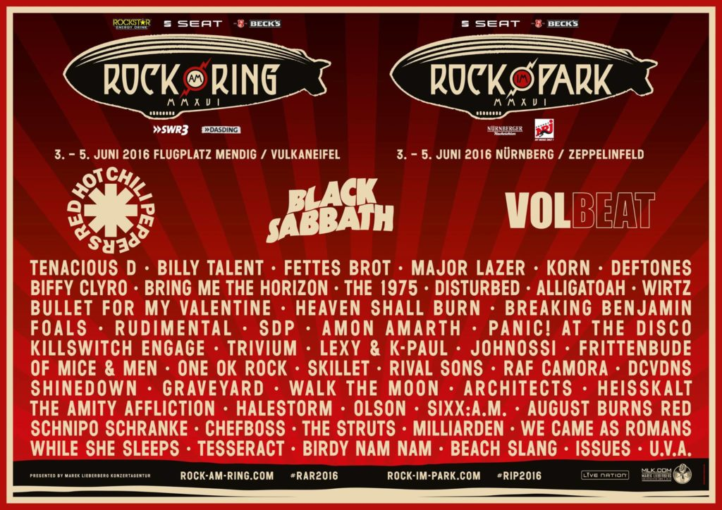 Rock am Ring 2016 Live-Stream Line-Up