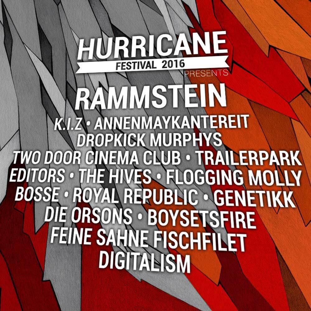 Hurricane Festival 2016 - Lineup