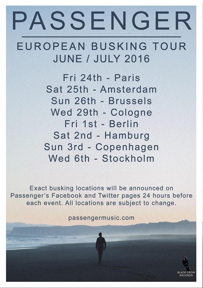 """Passenger - European Busking Tour"""""""