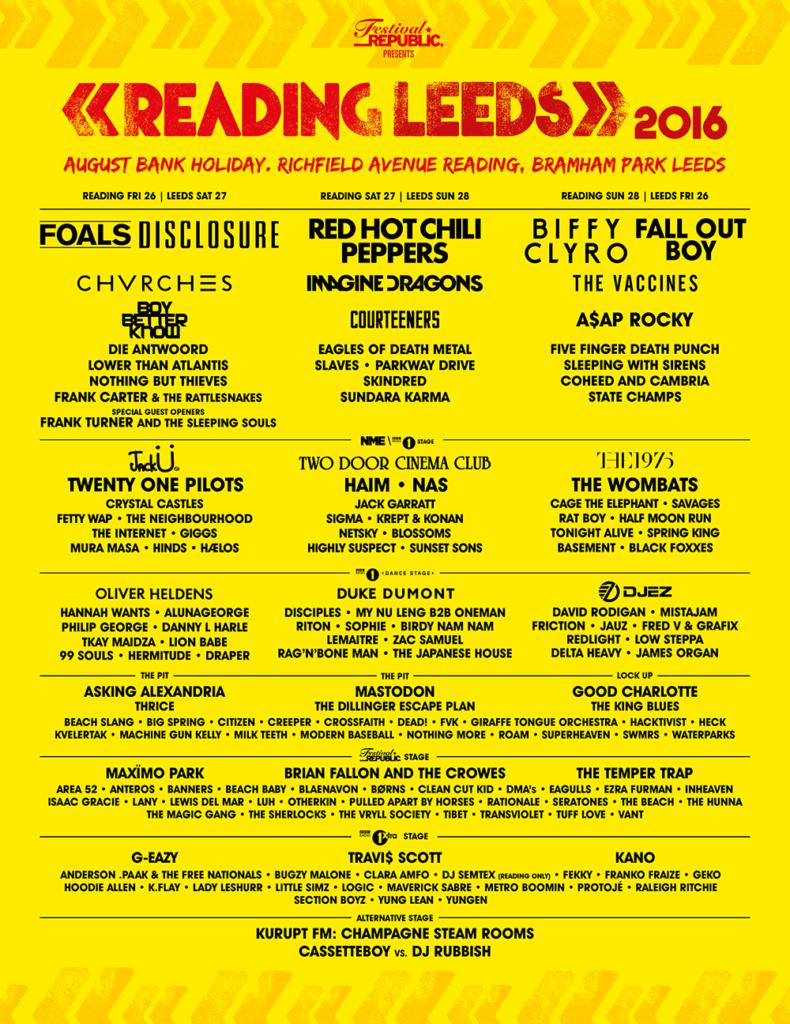 Reading + Leeds Festival 2016