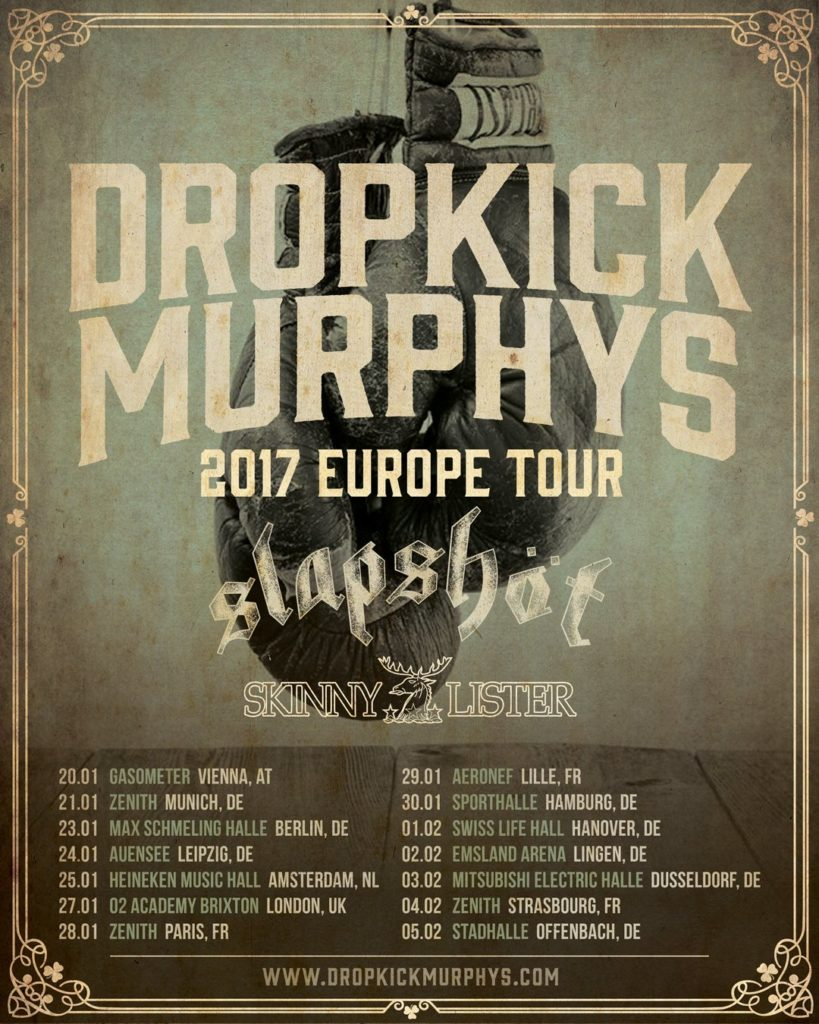 Dropkick Murphys European Tour 2017