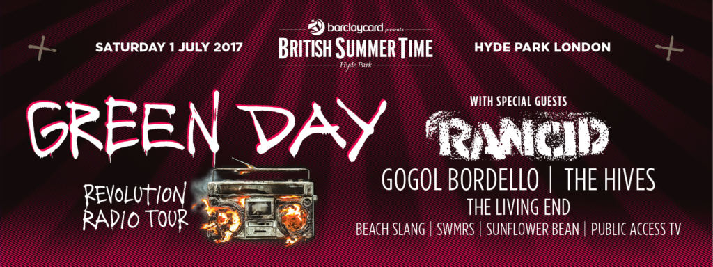 British Summer Time Hyde Park 2017 - Green Day
