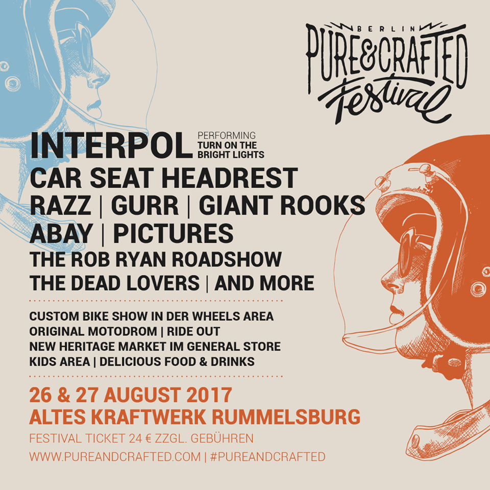 Pure&Crafted Festival 2017 - Lineup