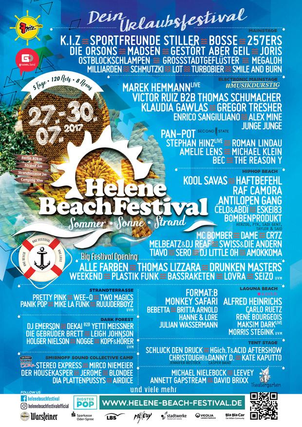 Helene Beach Festival 2017 Lineup