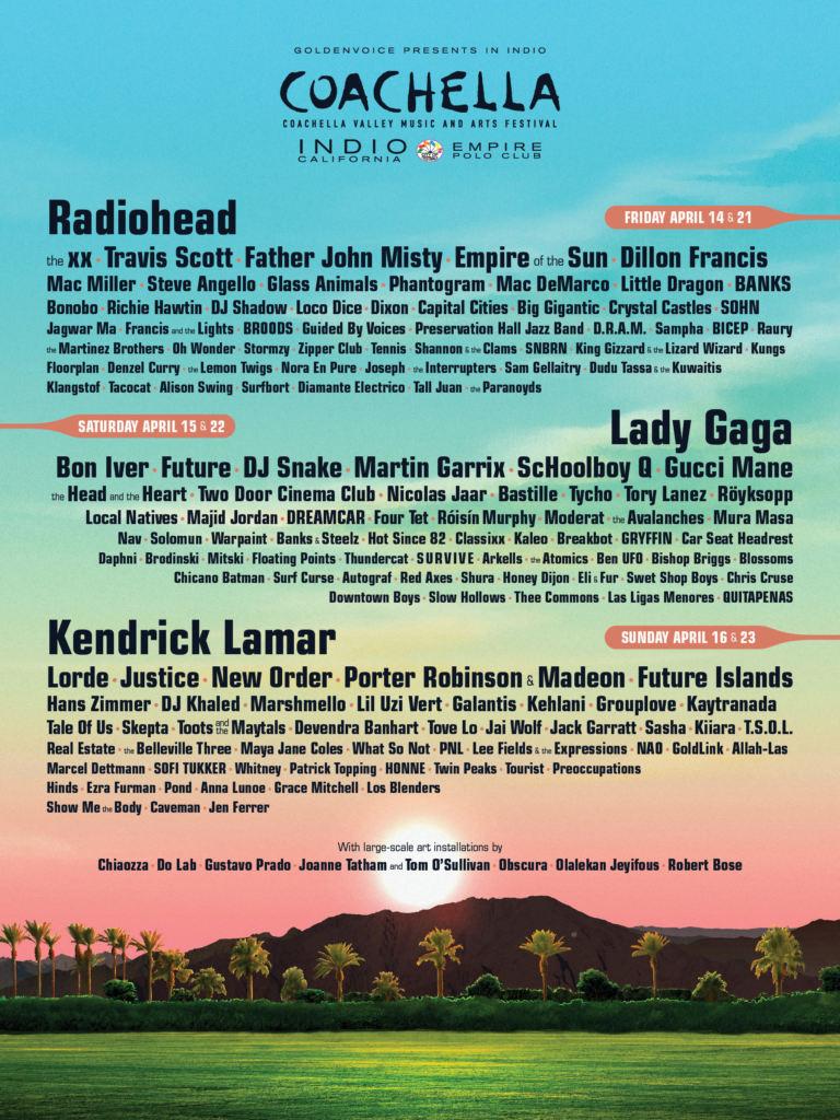 Coachella 2017 - Lineup