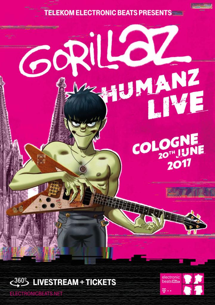 Gorillaz Köln 2017 Poster