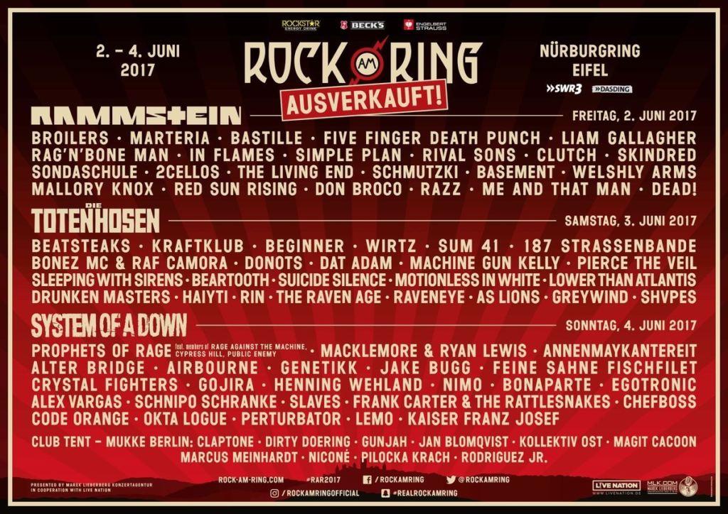 Rock am Ring 2017 - Lineup