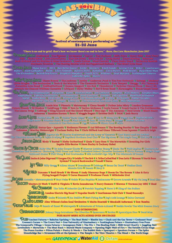 Glastonbury 2017 - Lineup