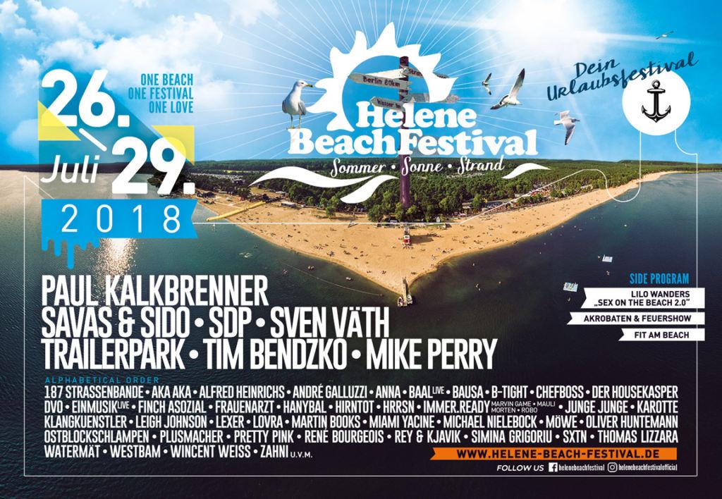 Helene Beach Festival 2018 - Lineup