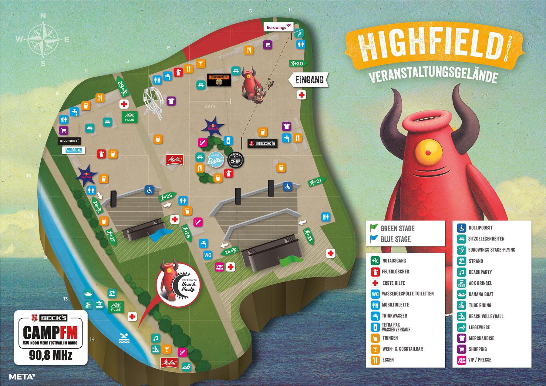 Highfield 2018 Geländeplan Infield