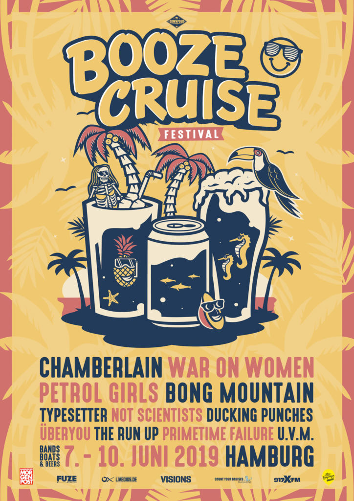 Booze Cruise 2019 - Lineup-Poster