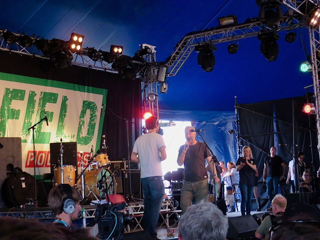 Billy Bragg & Frank Turner@Glastonbury Festival 2015 - Foto: Olli Exner