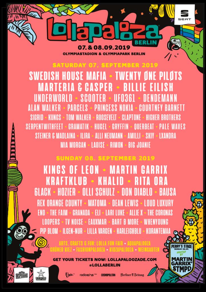 Lollapalooza Berlin 2019 - Lineup nach Tagen
