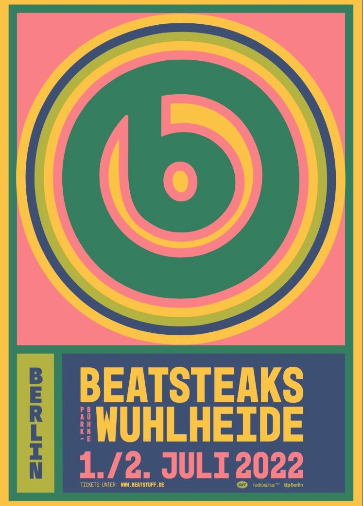 Beatsteaks - Wuhlheide 2022 - Plakat
